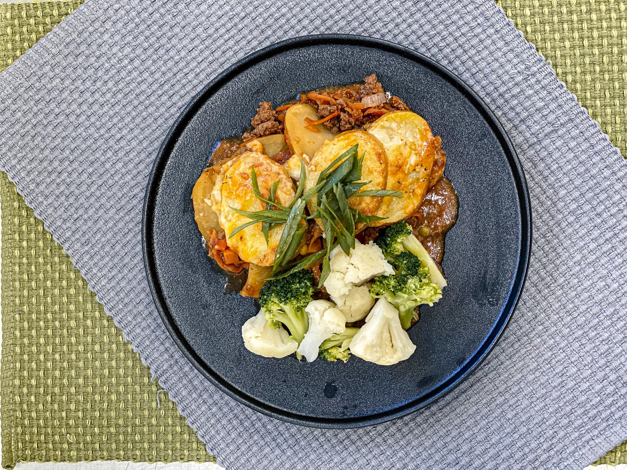 Beef and Potato Layered Casserole
