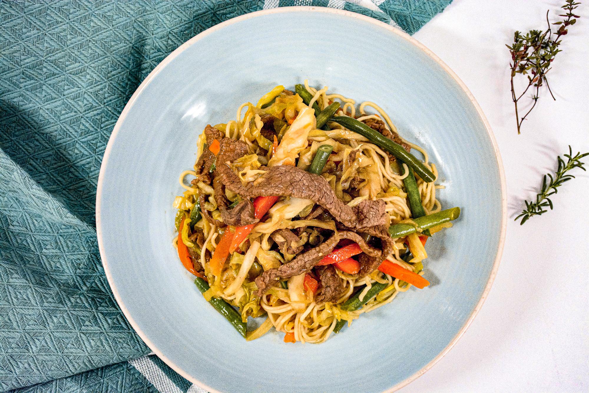 Teriyaki Beef with noodles