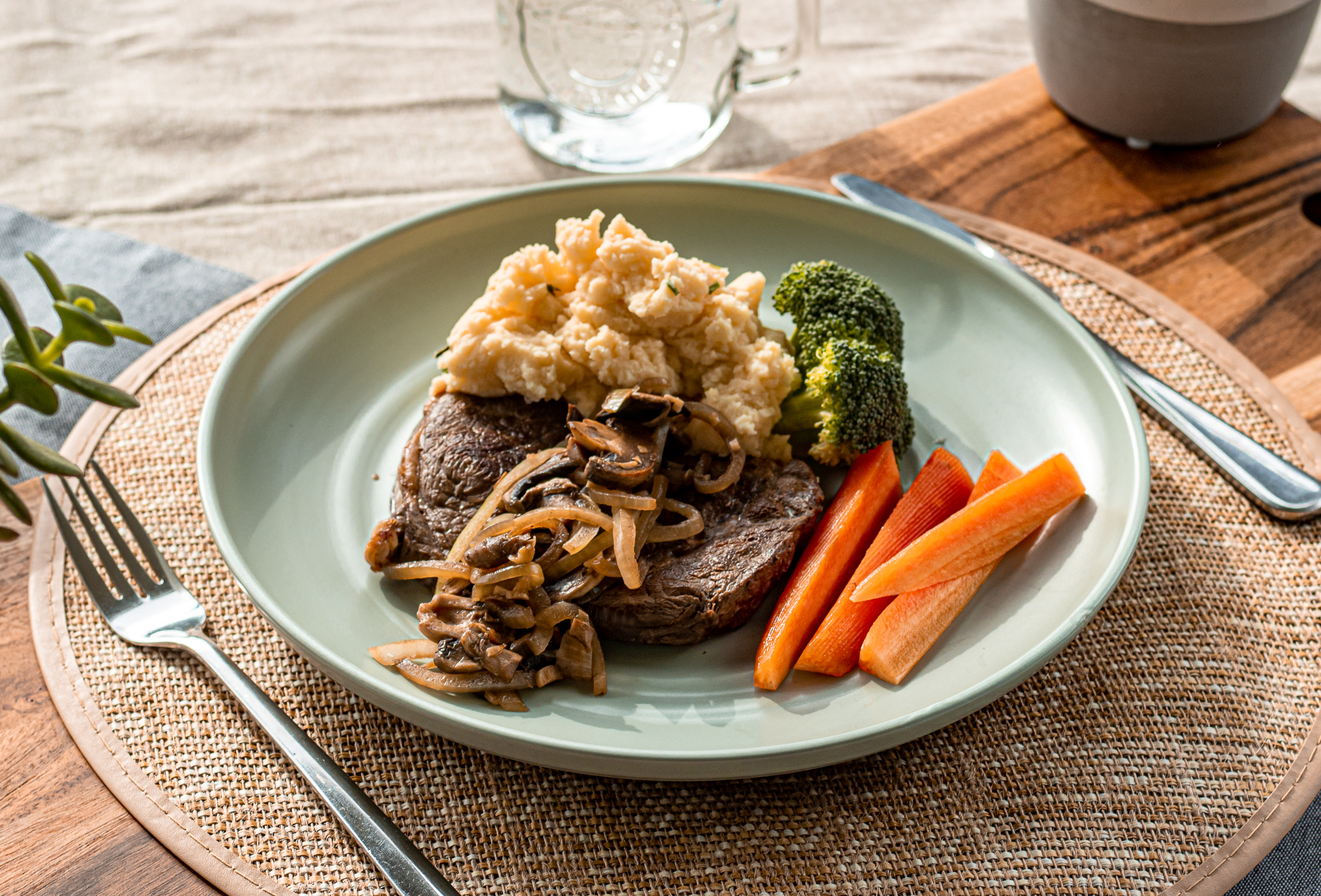 Steak with Herby Mash